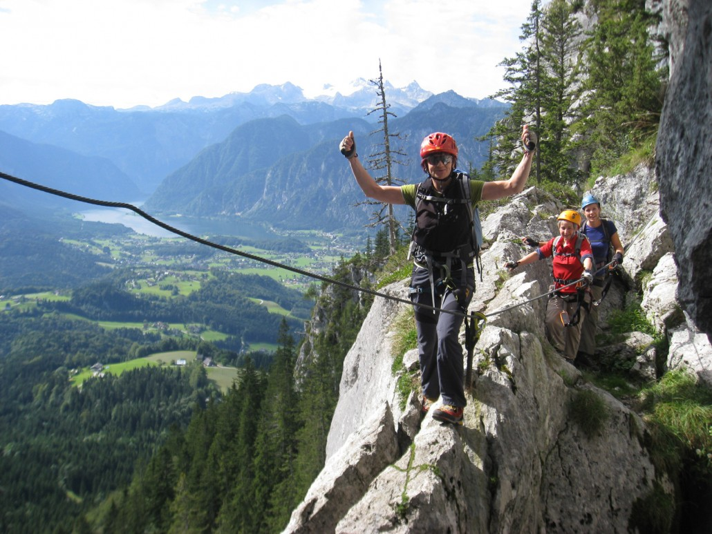 Klettersteig Gosausee : Laserer alpin klettersteigkurs gosau