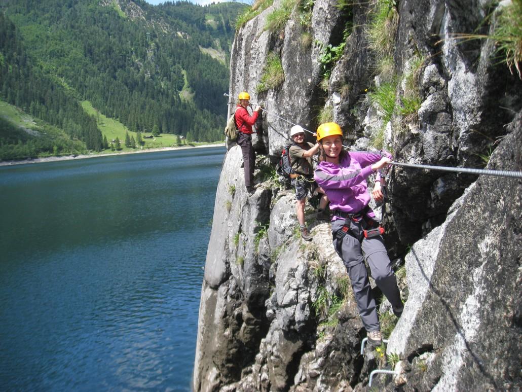 Laserer Alpin Klettersteig : Ferraty zaistené cesty laserer alpin klettersteig vetroplach