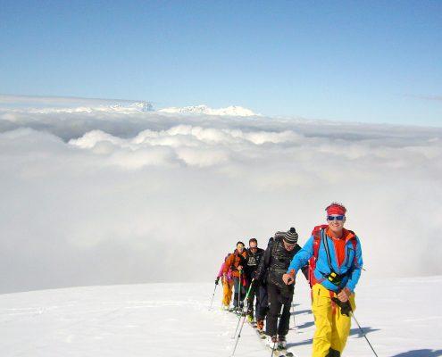 Skitouren Abruzzen Aufstieg Blockhaus