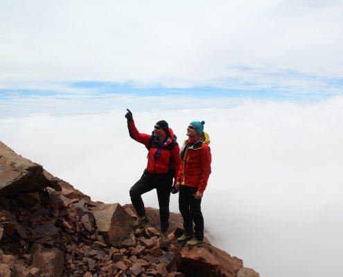 Aconcagua über den Wolken