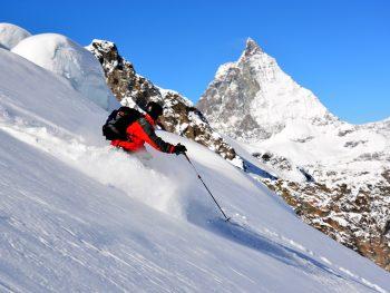 Alagna Abfahrt nach Zermatt Grenzgletscher