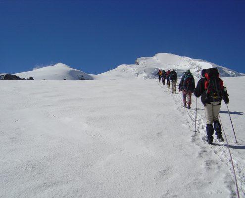 Aufstieg Mantovahütte
