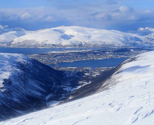 Blick auf Tromsö