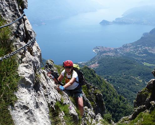 Klettersteig Comer See : Laserer alpin klettersteig reisen