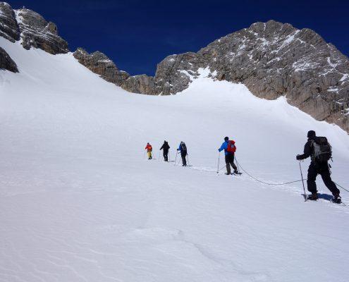 Dachstein Aufstieg zur Randkluft
