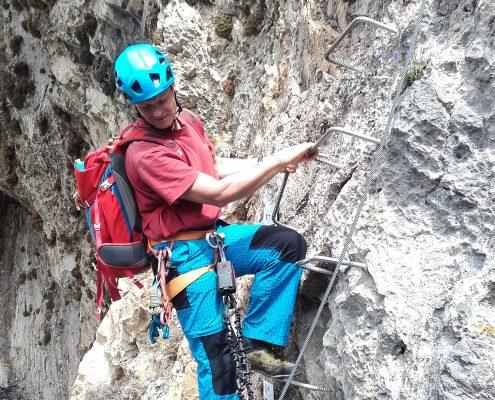 Einstieg des Klettersteiges in La Brigue