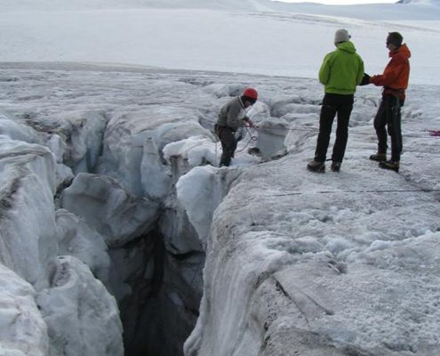 Gletscherseminar ewiges Eis