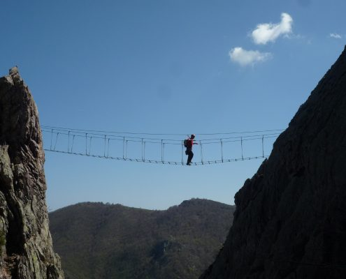 Ferrata degli artisti Magliolo die Brücke als Highlight