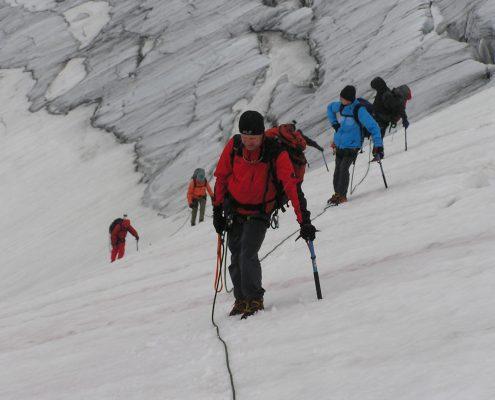Gletscherkurs Gehen mit Steigeisen