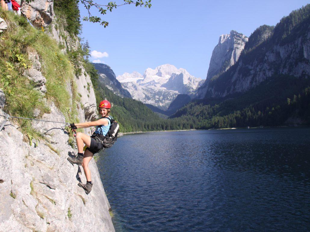 Klettersteig Gosausee : Laserer alpin klettersteige gosau salzkammergut leicht