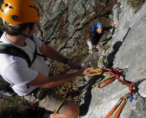 Felskletterkurs für Fortgeschrittene Grazer Bergland