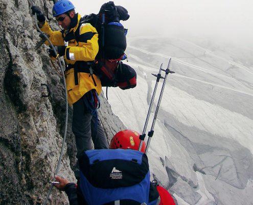 Klettersteig als Fixseil