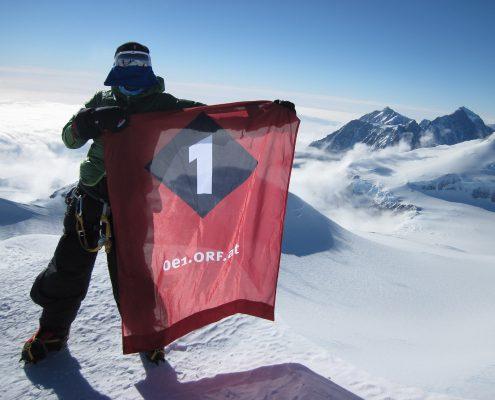 Mt.Vinson mit OE1 am Gipfel