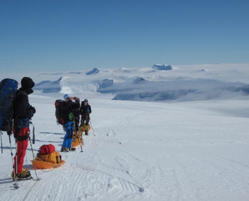 Mt.Vinson Abstieg ins BC