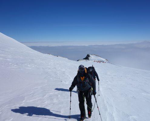 Mt.Vinson Aufstieg zum Gipfel