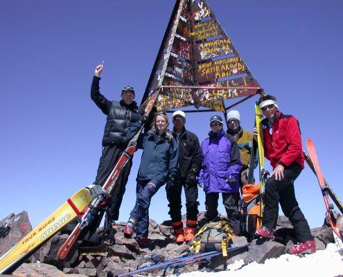 Skitouren Hoher Atlas Djebl Toubkal Gipfel