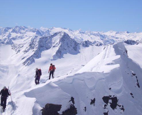 Skitouren Stubaier Gipfelgrat Ruderhofspitze