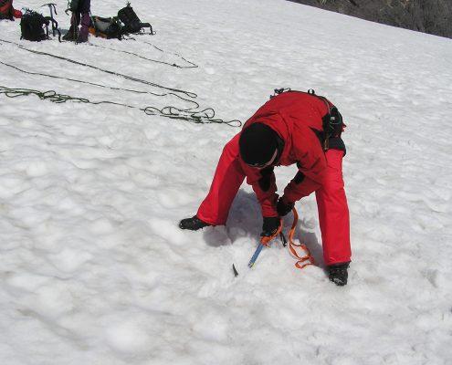 Gletsxherseminar Verankerung am Gletscher