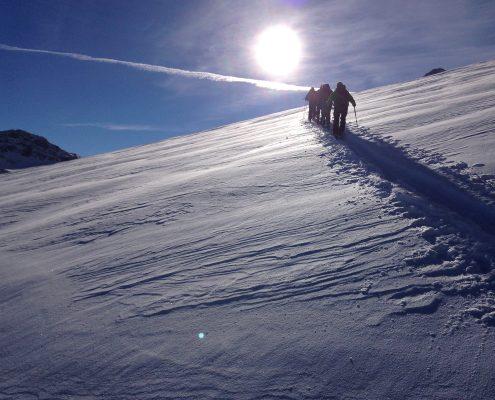 erste Skitouren