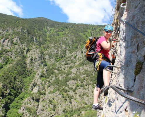 französische Klettersteigbauweise