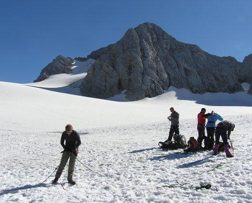 Gletscherkurs richtig Anseilen